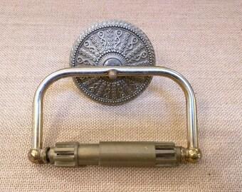 Vintage Brass Toilet Paper Holder American Tack Hardware 1968
