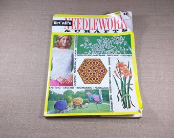 McCall's Needlework & Crafts Magazine Spring Summer 1972 70s Knit Crochet Home Sewing