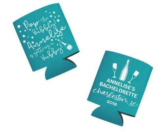 Pop the Bubbly SVG, I'm Getting a Hubby DIY, Bachelorette Party Can Cooler