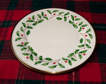"""Lenox Holiday Dimension Dinner Plate 10 1/2"""" - Set of 4 Plates"""