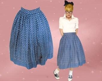 50s Good Girl Skirt is an Atomic Skirt, a Full Cotton Skirt for Rockabilly Sock Hop Rock n Roll, 50s Full Skirt, Below Knee Skirt
