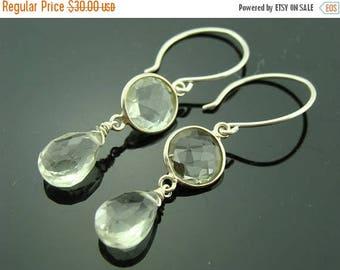 Green Amethyst 925 Sterling Silver Dangle Earrings