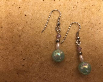 Pearl Bead Drop Earrings