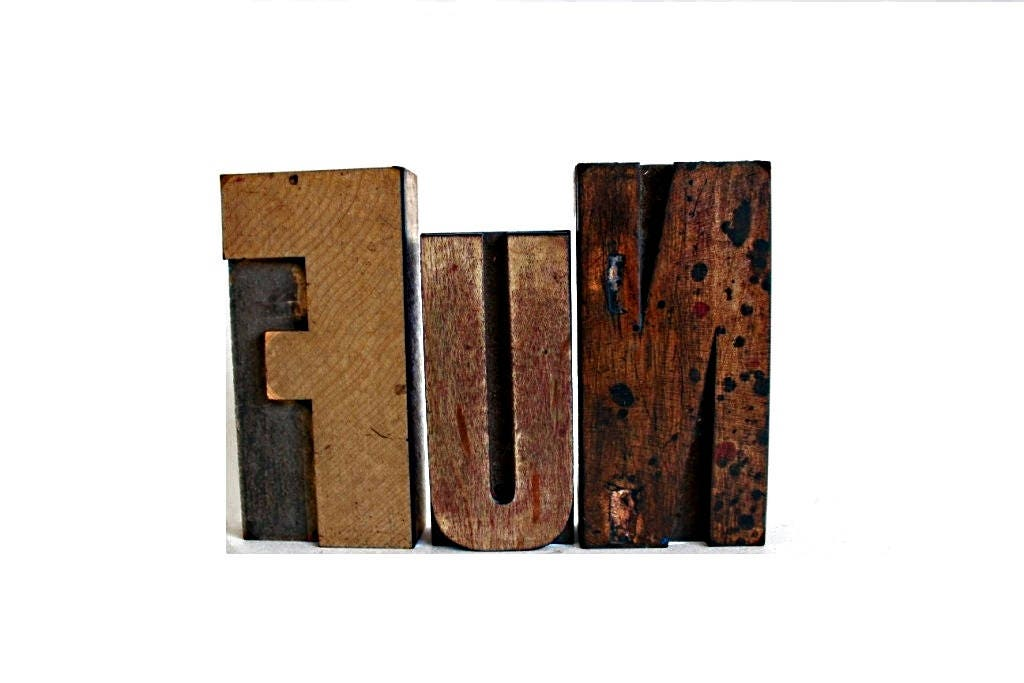 Big Wood Blocks ~ Big fun large letterpress blocks word art wooden