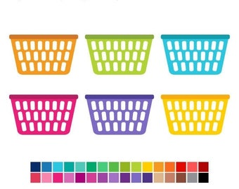 40% OFF SALE Washing Basket Clipart - Washing Digital Clipart - Cleaning Clipart -  House Chores - Planners Clip Art - Commercial Use