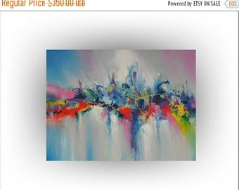 ON SALE Modern Abstract Painting- Abstract art - Flower painting - Les Jolies Fleurs No.4 - 30 x 40 - Artist Skye Taylor