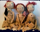 American Annie and Friends Pattern /Primitive Dolls E-Pattern / Primitive Patterns / Cloth Doll Pattern / New Patterns / Americana / Prim