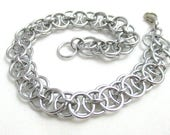 Silver Helm Chainmaille Bracelet - Silver Chain Maille Bracelet - Chain Bracelet