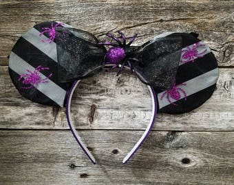 Halloween Spider Mickey Ears