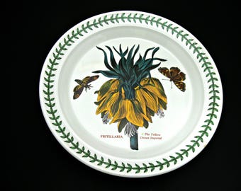 Portmeirion Botanic Garden Fritillaria (Yellow Crown Imperial) Dinner Plate - Vintage 10 inch - Made in Britain