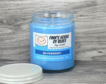Finn's House of Blues Blueberry Soy Candle