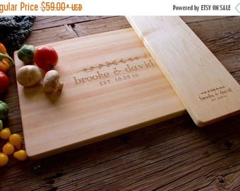 ON SALE Personalized Cutting Board, Set, Engraved Cutting Board, Personalized Wedding Gift, Wedding Gift, Housewarming Gift, Anniversary Gif