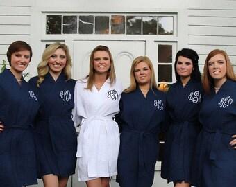 30% OFF SALE - Solid Bridesmaid Robes - Bridesmaid robes - Waffle Robe - Kimono Robe - Bridesmaid Gifts