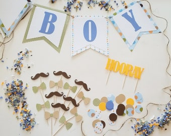 It's A Boy Theme Party Set, Gentleman Party, Complete Party Set, Party Theme Kit, Party Decorations, Party Decor, Baby Shower Theme