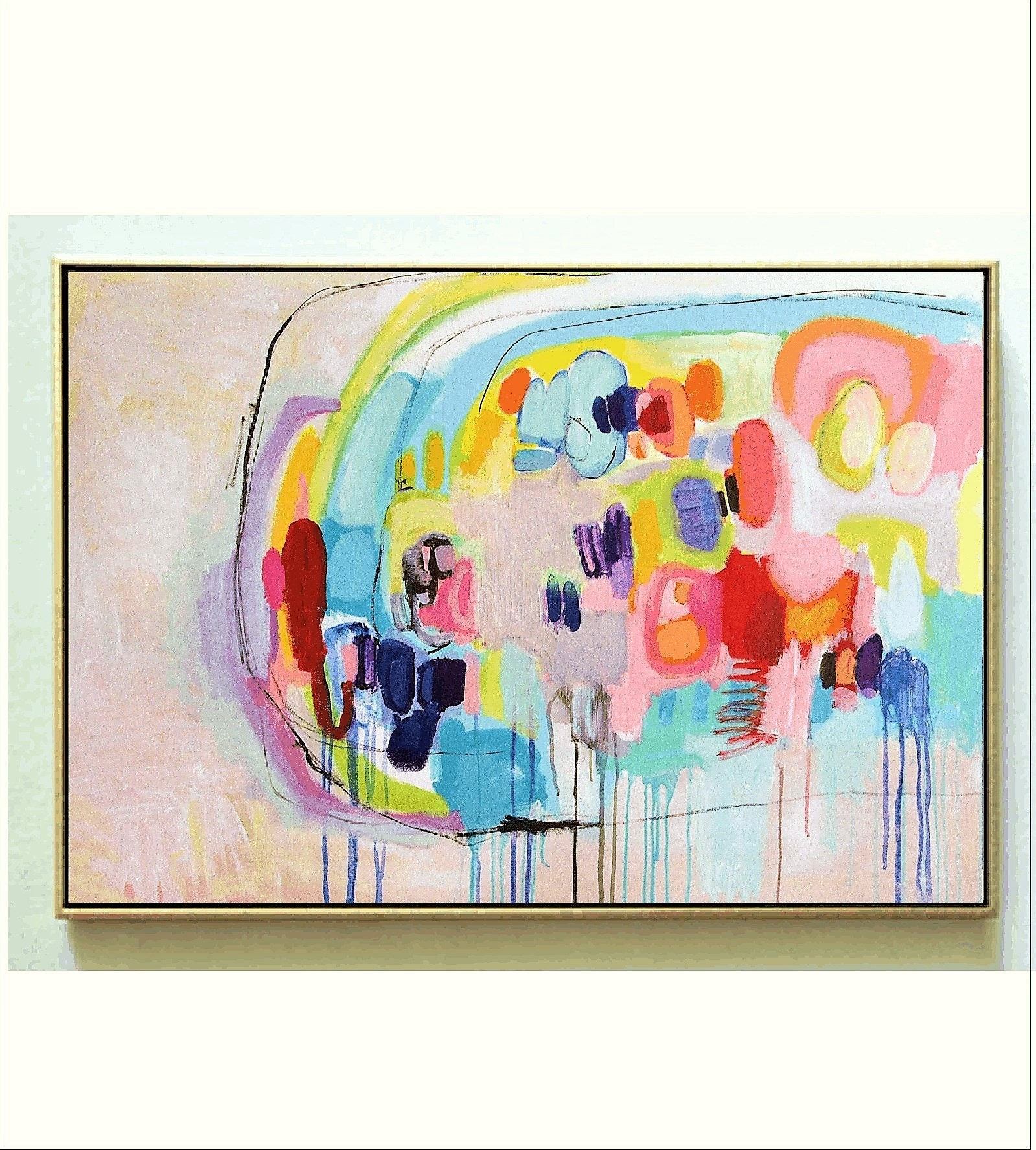 Abstract painting multicolor painting nice acrylic for Nice acrylic paintings