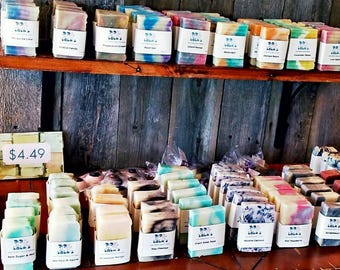 10 Pack Assorted Soap Goddess Special Edition Handmade Barely-Scented Soaps