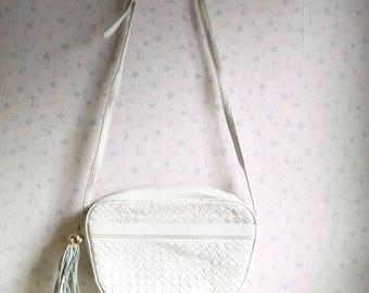 Vintage Artbag Creations Designer White Leather Purse