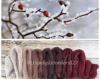 Hand Dyed Yarn, Gradient Yarn, Fingering Weight Yarn, Winter Berry
