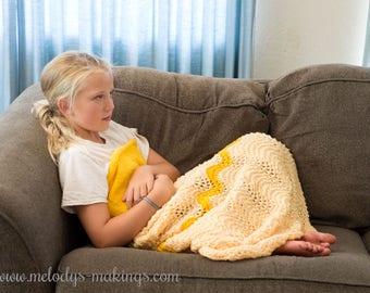 Knit Princess Dress Blanket Pattern - Dress Blanket Pattern - Knit Blanket Pattern - Child Blanket Pattern - Knitting Pattern - Knit Blanket