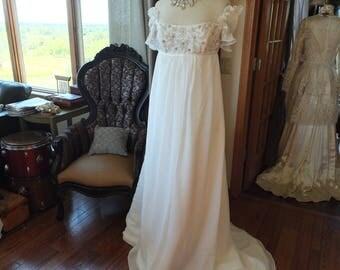 Maternity wedding dress sz 8 room to grow
