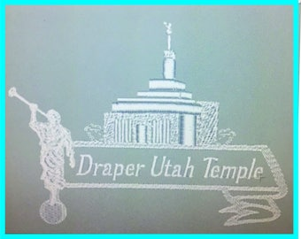 Draper Utah Temple - Plain Edge
