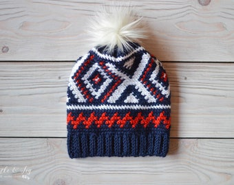 Crochet Neva Hat (Team USA Olympics Hat) PDF DOWNLOAD