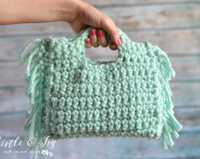 Fringe Clutch Crochet PATTERN PDF DOWNLOAD
