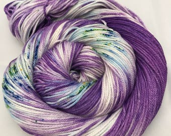 Carrie Cotton DK, DK, Pima Cotton, 100 grams, Hand Dyed Yarn, double knitting, Blueberry Mojito