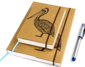 Pelican (Small), Journal, Notebook, Sketchbook, Personal agenda, Travel Journal, Diary, Calendar, Hardcover, Unique gift, Artistic