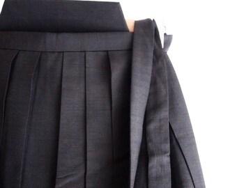 Authentic Vintage Japanese Hakama for men, Brown Hakama, Tsumugi Silk, High Quality, 96/86
