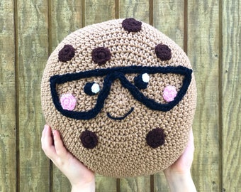 Crocheted Smart Cookie Plush Pillow - MADE TO ORDER