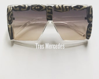 Fingertips Sunglasses- African beads Batik Bone Zebra print