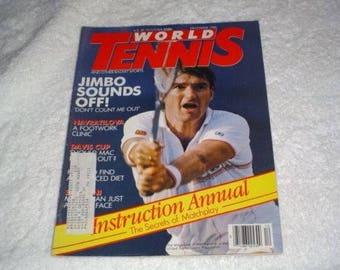 World Tennis Magazine December 1986 Connors Navratilova Davis Cup