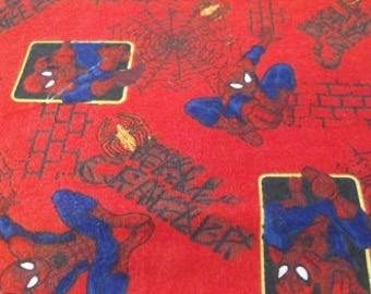 Flannel Spiderman Fabric