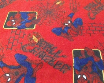Flannel Spiderman Fabric s/h included