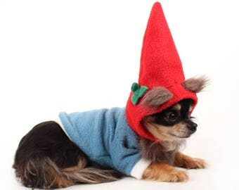 Dog Costume Gnome dog costume for Halloween Fleece dog clothes