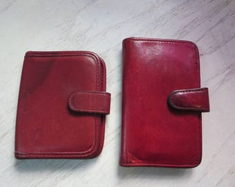 Coach LOT Red Leather Wallet - Two Coach Vintage Wallets from 1970's