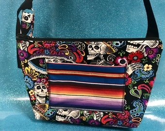Day of the Dead Skeleton Crossbody Purse