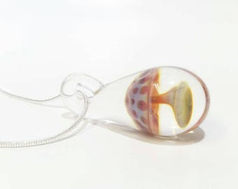 Glass Mushroom Pendant - Ready to Ship