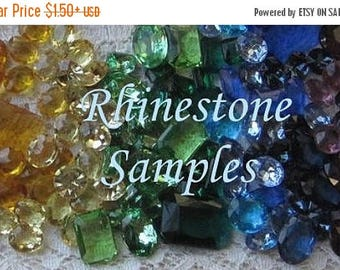 SHIPPING DELAY SALE 10% Rhinestone Samples, Anna Wintour Necklace Color Samples