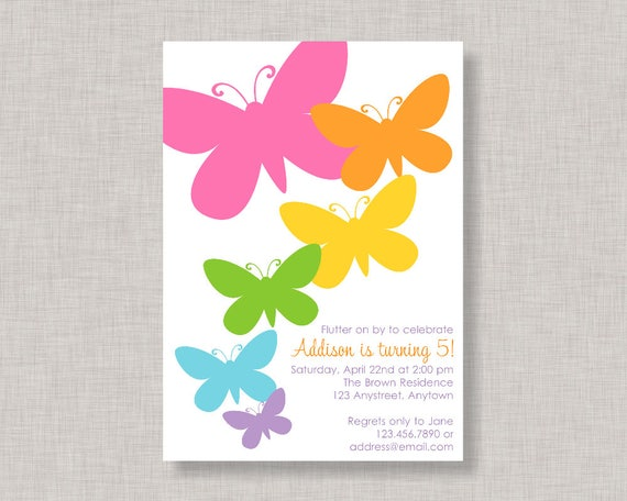 Butterfly Invitation Butterfly Birthday Invitation Butterfly - Butterfly birthday invitation images