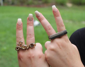 Brass Knuckle Rings Love
