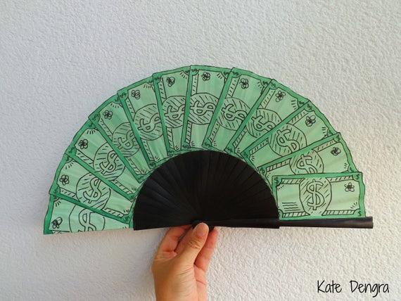 Fan of Money Hand Fan 24cm