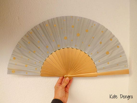 Gold and Silver Supersize Pericon with Gold Polka Dots