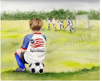Boston Revolution Print - 8x10/5x7  -  Soccer