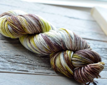 Hand Dyed Superwash Merino Wool Yarn - Worsted weight - Alluring
