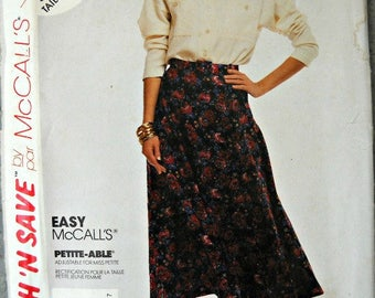 McCall's Stitch 'N Save 4937, Misses Blouse, Skirt, and Belt Pattern, Petite-Able, Sizes 14, 16, and 18, Factory Folded Uncut, Vintage 1990