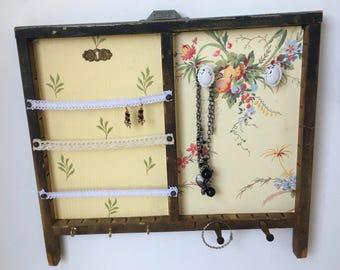 Vintage Letterpress Drawer / Printers Draw Jewelry Hanger / Organizer .. Jewelry Letterpress Drawer Wall Hanging