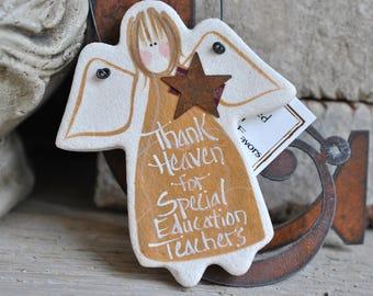 Special Education Teacher Gift Salt Dough Ornament / Birthday / Xmas