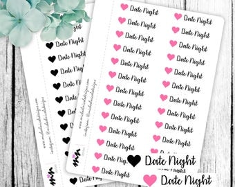 Date Night Stickers, Date Night, Love Stickers, Date Stickers - Perfect for Planners and Calendars - MN103